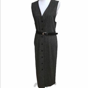 Pendleton vintage button front vest style dress.